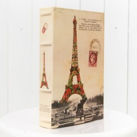 Rustic Travel Book Prop Eiffel Tower
