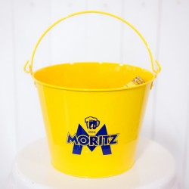 Yellow Metal Ice Bucket