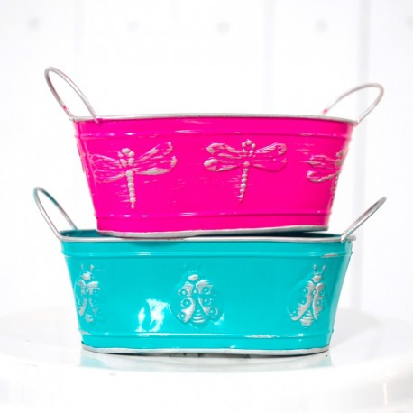 Colourful Metal Buckets For Parties