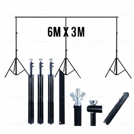 Rent: 6m x 3m Portable Backdrop Stand