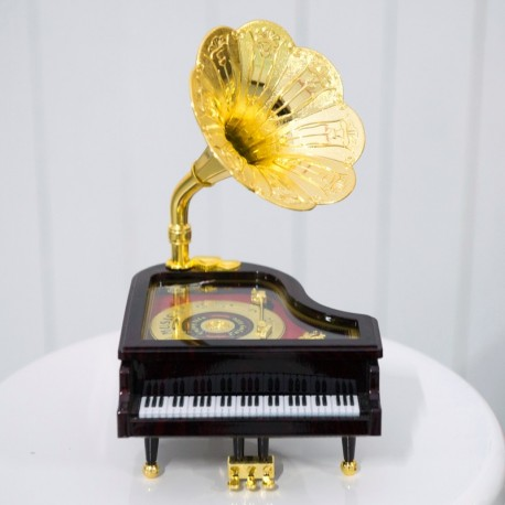 Mini Golden Gramophone Piano Prop