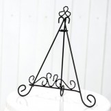 Rent: Wrought Iron Display Easel (Black)