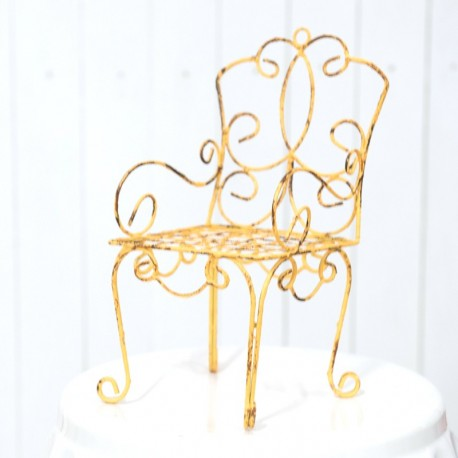 Vintage Mini Yellow Iron Chair