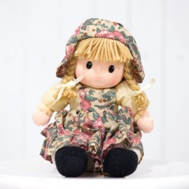 Pretty Rag Doll in Vintage Floral Dress