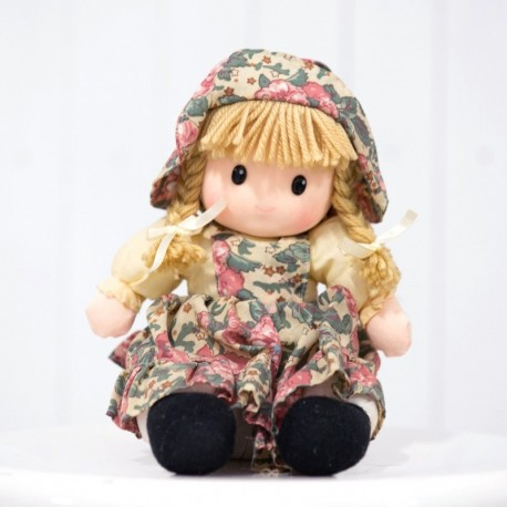 Pretty Rag Doll in Vintage Floral Dress
