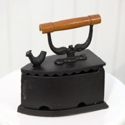 Vintage Coal Iron With Rooster Latch