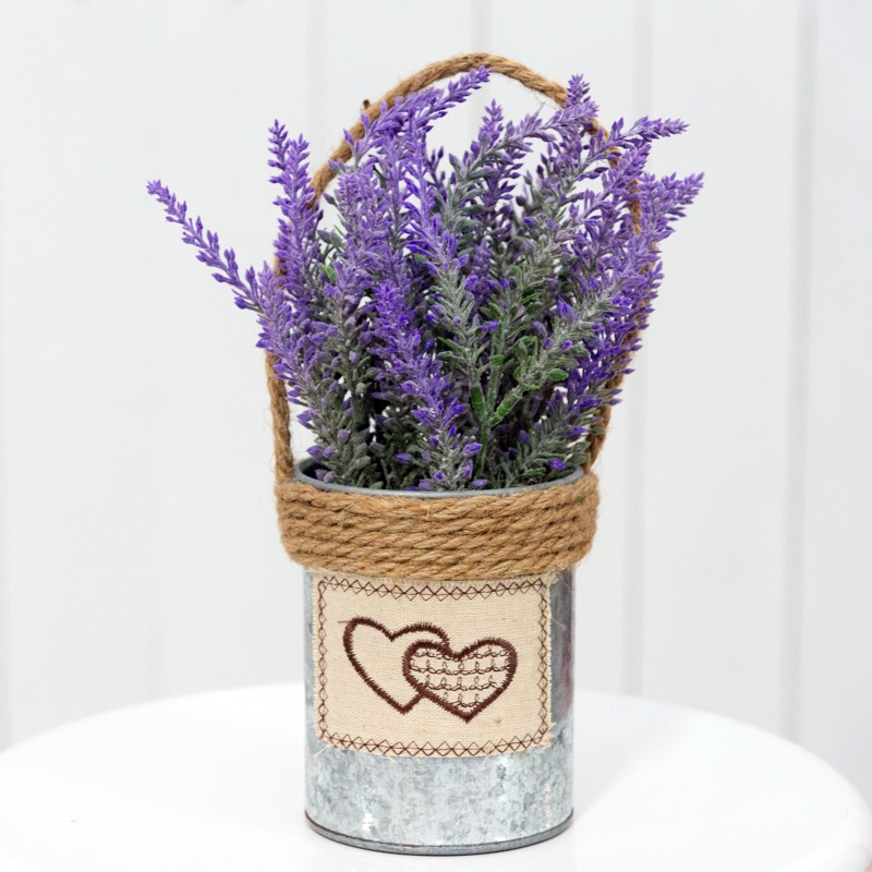 Wedding Decor Rental Singapore: Rent: Lavenders In Rustic Metal Bucket With Twine