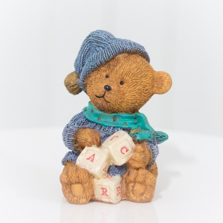 Wintertime Ceramic Old English Teddy Bear
