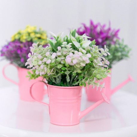 Mini Pink Floral Watering Cans (set of 3)