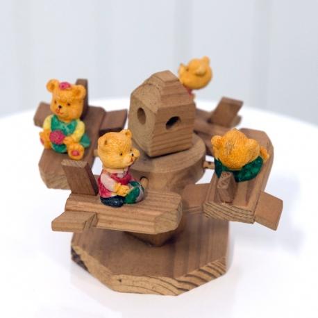 Vintage Wooden Merry-Go-Round Toy