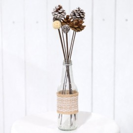 Ornamental Natural Pine Cone Sticks Decor