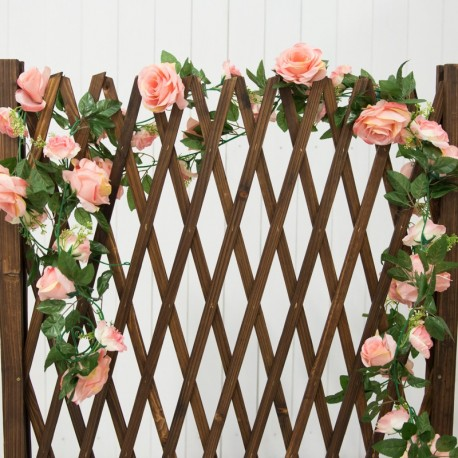 Realistic Artificial Champagne Rose Vines