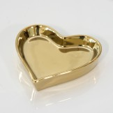 Rent: Decorative Golden Heart Tray (Small)