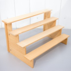 Light Brown Wooden Display Rack