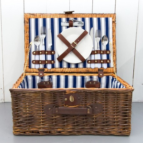 Large Picnic Basket With Cutlery