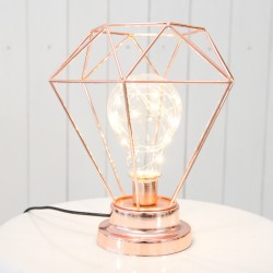 Sleek and Elegant Rose Gold Lamp