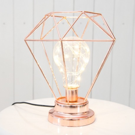 Sleek and Elegant Rose Gold Lamp
