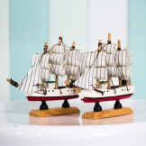 Rent: Nautical Boat Figurine (set of 2 small boats)