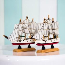 Nautical Boat Figurine (set of 2 small boats)