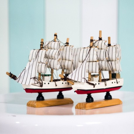 Nautical Boat Figurine (set of 2 small boats)