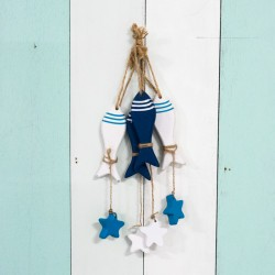 Marine Wooden Fish (set of 4)