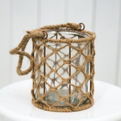 Rustic Glass Jar With Sisal Rope