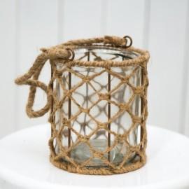 Rustic Glass Jar With Sisal Rope