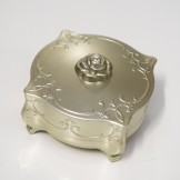 Rent: Embossed Golden Accessories Box