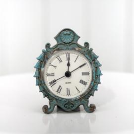 Turquoise Vintage Mini Decor Clock