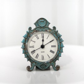Turquoise Vintage Mini Decor Clock