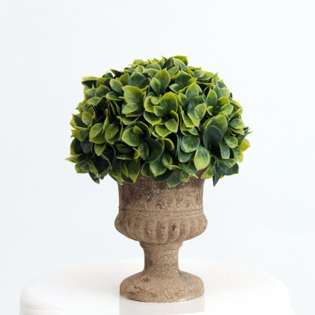 Medium Artificial Topiary Ball Plant in Brown Vase