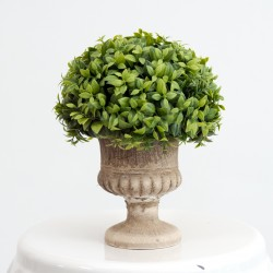 Large Artificial Topiary Plant in Brown Vase