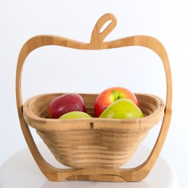 Rustic Wooden Fruit Basket