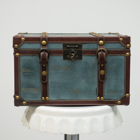 Blue Vintage Treasure Chest