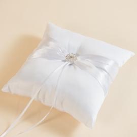 White Ring Pillow For Wedding Rings
