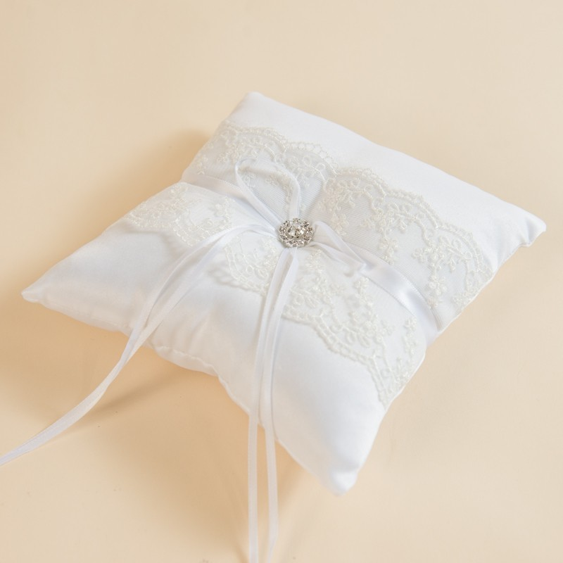 Ring Pillow With Lace Rent Wedding Decor Singapore Dreamscaper Sg