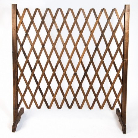 Rustic Foldable Lattice Wooden Fence