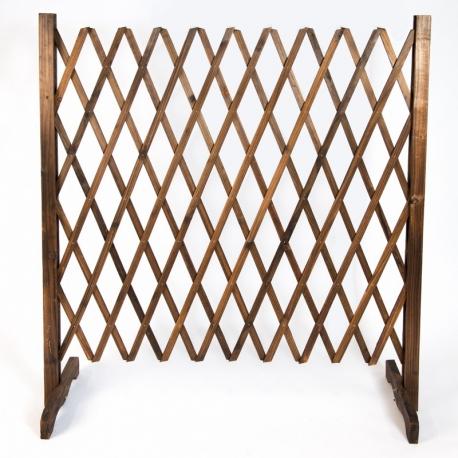Rustic Foldable Lattice Wooden Fence