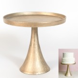 Rent: Meryl Pedestal Tall Cake Stand (Champagne)