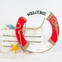Rent: Rustic Nautical Float/Life Saver (Red)