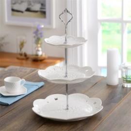White 3-tier Dessert Stand