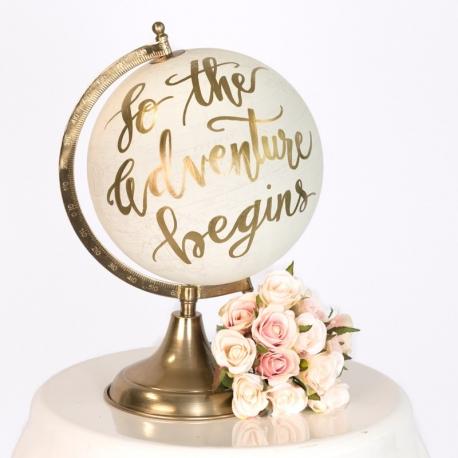Gold Globe Wedding prop