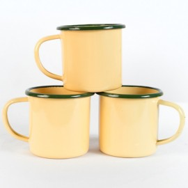 Old School Enamel Cups (set of 3)