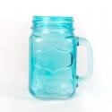 Rent: Vintage Blue Yorkshire Mason Jar Mug