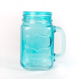 Blue Yorkshire Mason Jar Mug