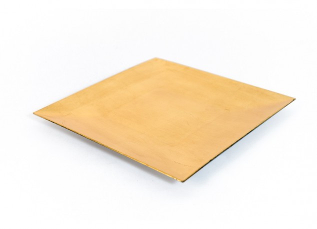 Gold Flat Square Plate