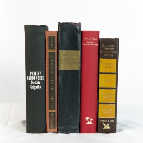 Real Vintage Open Books