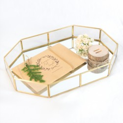 Golden Glass Tray
