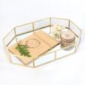 Rent: Gold Rim Mirror Tray