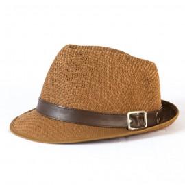 Vintage Men Fedora Straw Hat